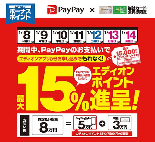 PayPay祭りが再燃!家電量販店でPayPay利用でポイントがもらえるキャンペーンを実施中です!