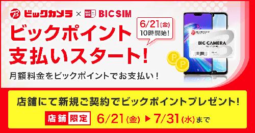 ビックカメラの格安SIM「BIC SIM」の支払いにビックポイントが利用できます!